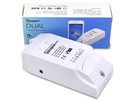 Sonoff Dual 2ch Wifi Interruptor Inalambrico Switch 2canales