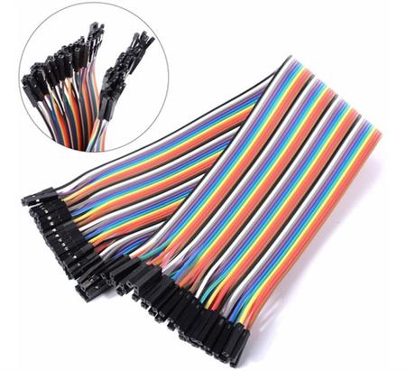 Pack 40 Cables Para Protoboard Hembra Hembra Arduino Dupont