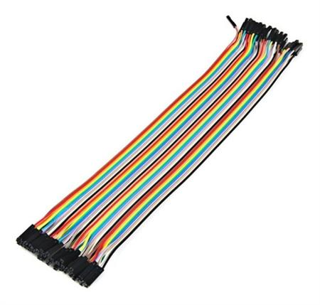 Pack 40 Cables Protoboard Hembra Hembra 30cm Arduino Dupont