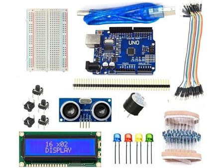 Kit Arduino Uno R3 Inicial Smd Ch340 Hc-sr04 Lcd 16x2 Cables